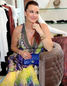 Beverly hills housewife in Parides Top Trend Palm print dress